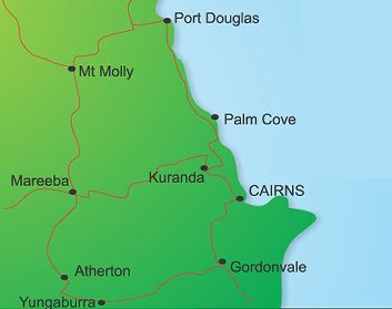 Outback Tasting Tours Port Douglas Map